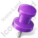 Map Marker Push Pin 2 Right Violet Icon