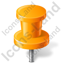 Map Marker Push Pin 2 Orange Icon