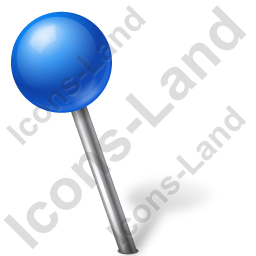 Map Marker Ball Left Blue Icon