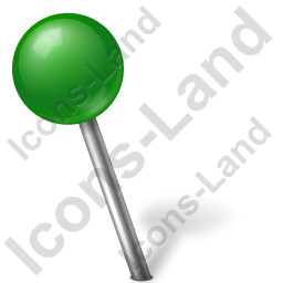 Map Marker Ball Left Green Icon, PNG/ICO, 256x256
