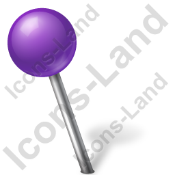 Map Marker Ball Left Violet Icon, PNG/ICO, 256x256