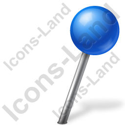 Map Marker Ball Right Blue Icon