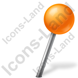 Map Marker Ball Right Orange Icon, PNG/ICO, 256x256