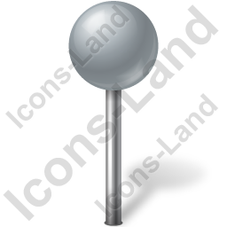 Map Marker Ball Grey Icon, PNG/ICO, 256x256