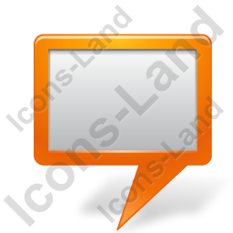 Map Marker Board Orange Icon