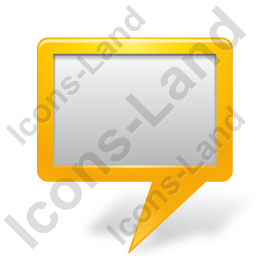 Map Marker Board Yellow Icon