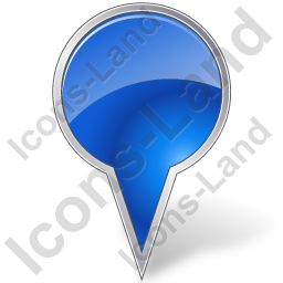 Map Marker Bubble Blue Icon