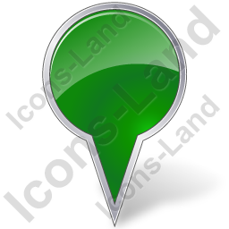Map Marker Bubble Green Icon