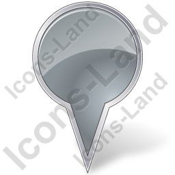 Map Marker Bubble Grey Icon
