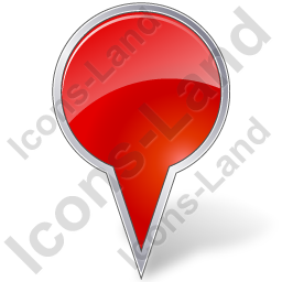 Map Marker Bubble Red Icon