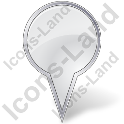 Map Marker Bubble White Icon, PNG/ICO, 256x256