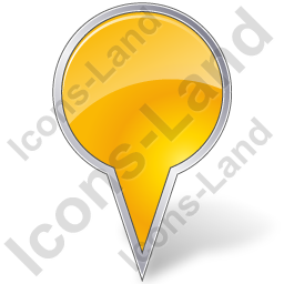 Map Marker Bubble Yellow Icon