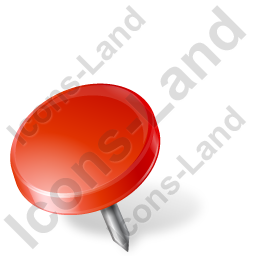 Map Marker Drawing Pin Left Red Icon, PNG/ICO, 256x256