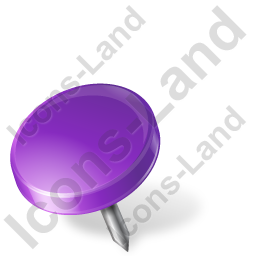 Map Marker Drawing Pin Left Violet Icon