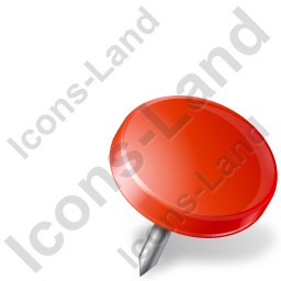 Map Marker Drawing Pin Right Red Icon, PNG/ICO, 256x256