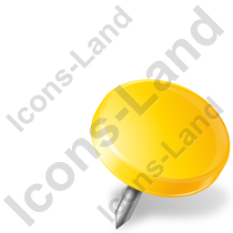 Map Marker Drawing Pin Right Yellow Icon, PNG/ICO, 256x256
