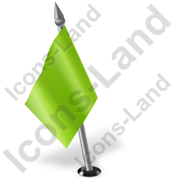 Map Marker Flag 2 Left Chartreuse Icon, PNG/ICO, 256x256