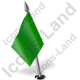 Map Marker Flag 2 Left Green Icon, PNG/ICO, 256x256