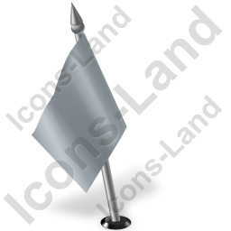 Map Marker Flag 2 Left Grey Icon