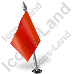 Map Marker Flag 2 Left Red Icon, PNG/ICO, 256x256