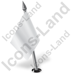 Map Marker Flag 2 Left White Icon, PNG/ICO, 256x256