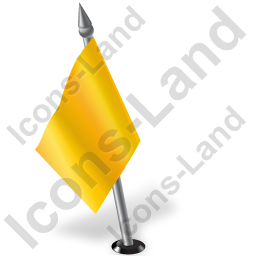 Map Marker Flag 2 Left Yellow Icon, PNG/ICO, 256x256