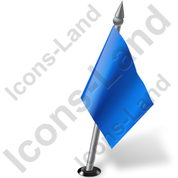 Map Marker Flag 2 Right Blue Icon