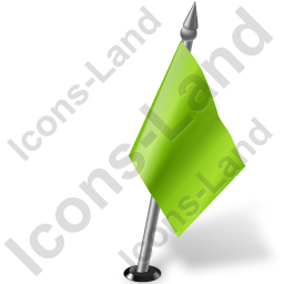 Map Marker Flag 2 Right Chartreuse Icon, PNG/ICO, 256x256