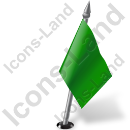 Map Marker Flag 2 Right Green Icon