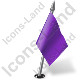Map Marker Flag 2 Right Violet Icon, PNG/ICO, 256x256