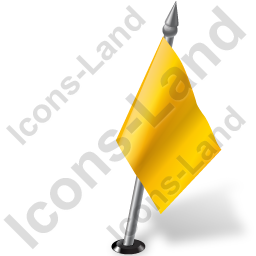 Map Marker Flag 2 Right Yellow Icon