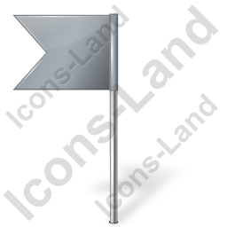 Map Marker Flag 4 Left Grey Icon, PNG/ICO, 256x256