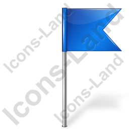 Map Marker Flag 4 Right Blue Icon, PNG/ICO, 256x256