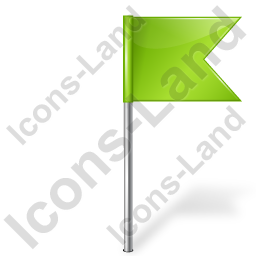 Map Marker Flag 4 Right Chartreuse Icon, PNG/ICO, 256x256
