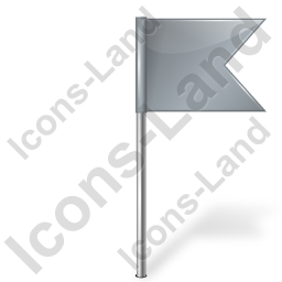 Map Marker Flag 4 Right Grey Icon, PNG/ICO, 256x256