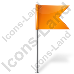 Map Marker Flag 4 Right Orange Icon