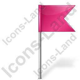 Map Marker Flag 4 Right Pink Icon