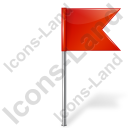 Map Marker Flag 4 Right Red Icon, PNG/ICO, 256x256