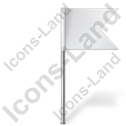 Map Marker Flag 4 Right White Icon