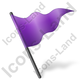 Map Marker Flag 5 Violet Icon