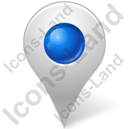Map Marker Marker Inside Blue Icon