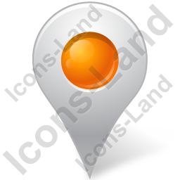 Map Marker Marker Inside Orange Icon