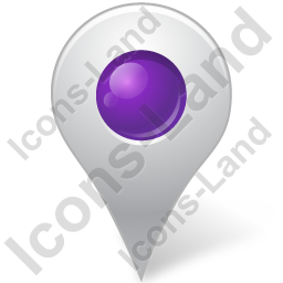 Map Marker Marker Inside Violet Icon, PNG/ICO, 256x256
