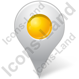 Map Marker Marker Inside Yellow Icon, PNG/ICO, 256x256