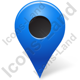 Map Marker Marker Outside Blue Icon