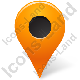 Map Marker Marker Outside Orange Icon