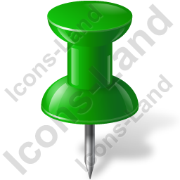 Map Marker Push Pin 1 Green Icon