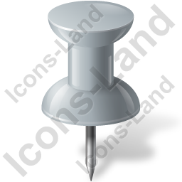 Map Marker Push Pin 1 Grey Icon