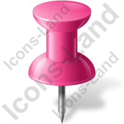 Map Marker Push Pin 1 Pink Icon, PNG/ICO, 256x256