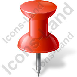 Map Marker Push Pin 1 Red Icon, PNG/ICO, 256x256